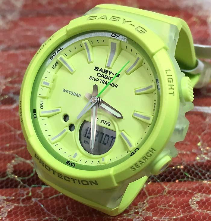 スーパーセール期間限定 BABY-G カシオ BGA-1BGS1009AJF プレゼント腕時計 ギフト 人気 ラッピング無料 愛の証 感謝の気持ち baby-g 国内正規品 新品 バジルカラー 歩数計測機能 あす楽対応 手書きのメッセージカードお付けします