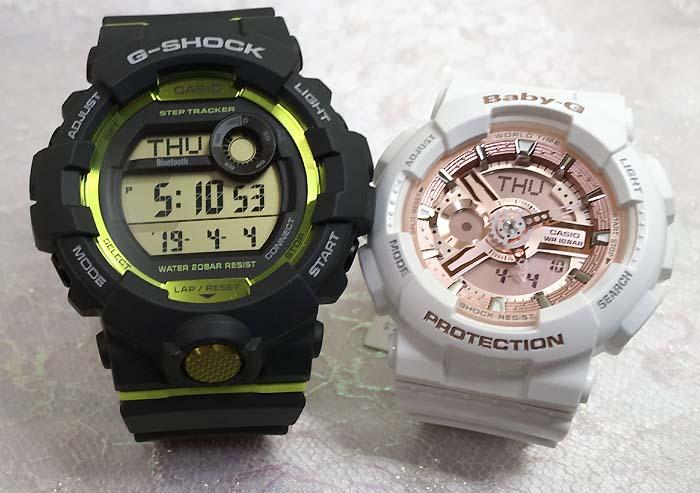 恋人たちのGショックペアウオッチ G-SHOCK BABY-G ペア腕時計 カシオ 2本セットgショック ベビーg アナデジ GBD-800-8JF BA-110-7A1JF ラッピング無料 g-shock メッセージカード手書きします あす楽対応 クリスマスプレゼント クリスマスペアウオッチ