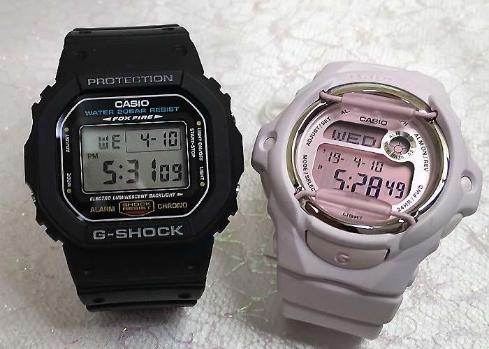 恋人たちのGショック ペアウオッチ G-SHOCK BABY-G ペア腕時計 カシオ 2本セット gショック ベビーg DW-5600E-1 BG-169M-4JF デジタル 人気 ラッピング無料g-shock 手書きのメッセージカードお付けします あす楽対応 クリスマスプレゼント