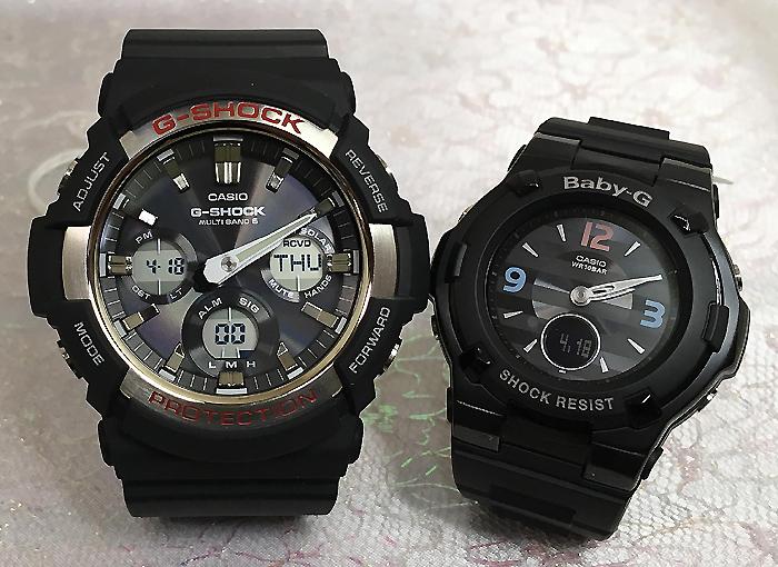 恋人たちのGショックペアウオッチ G-SHOCK BABY-G ペア腕時計 カシオ 2本セット gショック 電波ソーラー GAW-100-1AJF BGA-1100TRB-1BJF 人気 ラッピング無料 クリスマスプレゼント