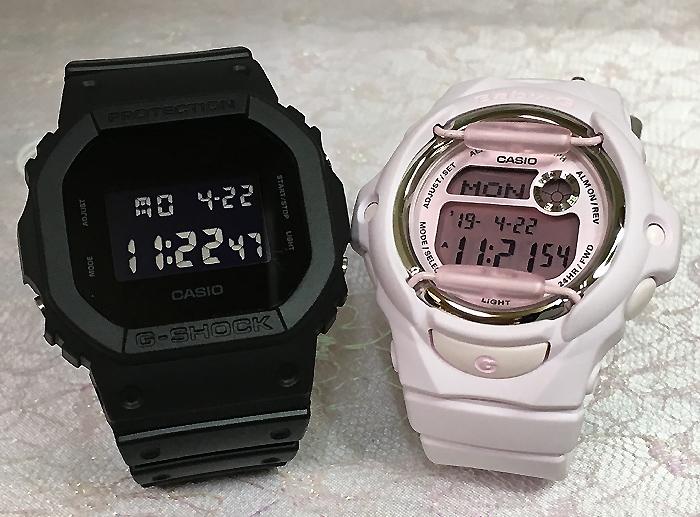 恋人たちのGショック ペアウオッチ G-SHOCK BABY-G ペア腕時計 カシオ 2本セット gショック ベビーg DW-5600BB-1JF BG-169M-4JFデジタル お揃い 人気 ラッピング無料 g-shock ペアウオッチ クリスマスプレゼント