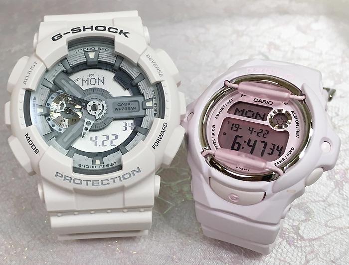 恋人たちのGショックペアウオッチ G-SHOCK ペア腕時計 カシオ GA-110C-7AJF BG-169M-4JFプレゼント ギフト ラッピング無料 g-shock メッセージカード手書きします あす楽対応 クリスマスプレゼント