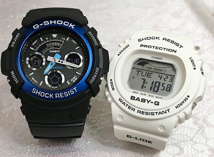恋人たちのGショックペアウオッチ G-SHOCK BABY-G ペア腕時計 カシオ 2本セット gショック ベビーg アナデジ AW-591-2AJF BLX-570-7JF お揃い ギフト 人気 ラッピング無料 新品 メッセージカード手書きします クリスマスプレゼント