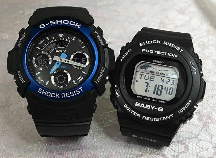 恋人たちのGショックペアウオッチ G-SHOCK BABY-G ペア腕時計 カシオ 2本セット gショック ベビーg アナデジ AW-591-2AJF BLX-570-1JF お揃い ギフト 人気 ラッピング無料 新品 メッセージカード手書きします クリスマスプレゼント