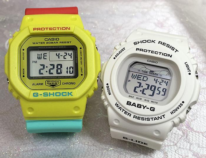 恋人たちのGショック ペアウオッチ G-SHOCK ペア腕時計 カシオ 2本セット gショック ベビーg DW-5600CMA-9JF BLX-570-7JF プレゼント ギフト ラッピング無料 手書きのメッセージカードお付けします あす楽対応 g-shock クリスマスプレゼント