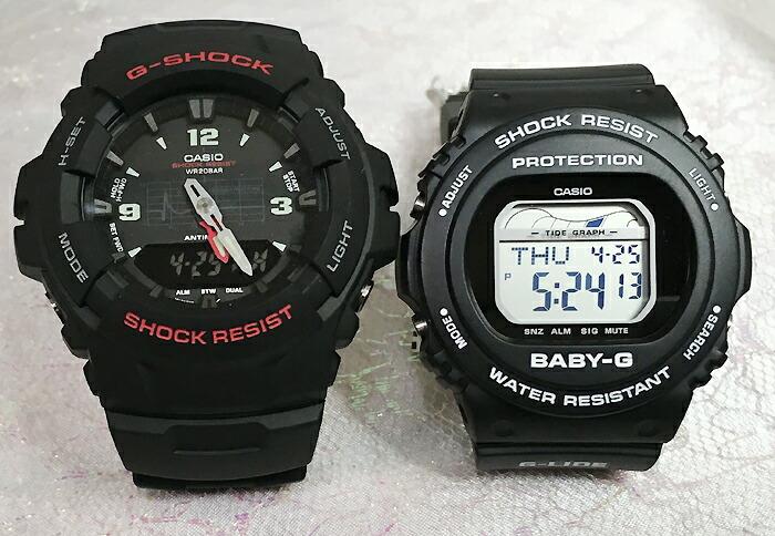 恋人たちのGショック ペアウオッチ G-SHOCK BABY-G ペア腕時計 カシオ 2本セット gショック ベビーg G-100-1BMJF BLX-570-1JF人気 ラッピング無料 g-shock 送料無料 クリスマスプレゼント