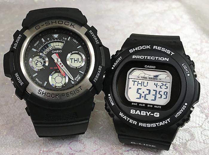 恋人たちのGショック ペアウオッチ G-SHOCK BABY-G ペア腕時計 カシオ 2本セット gショック ベビーg AW-590-1AJF BLX-570-1JFプレゼント ギフト 人気 ラッピング無料 新品メッセージカード手書きします g-shock あす楽対応