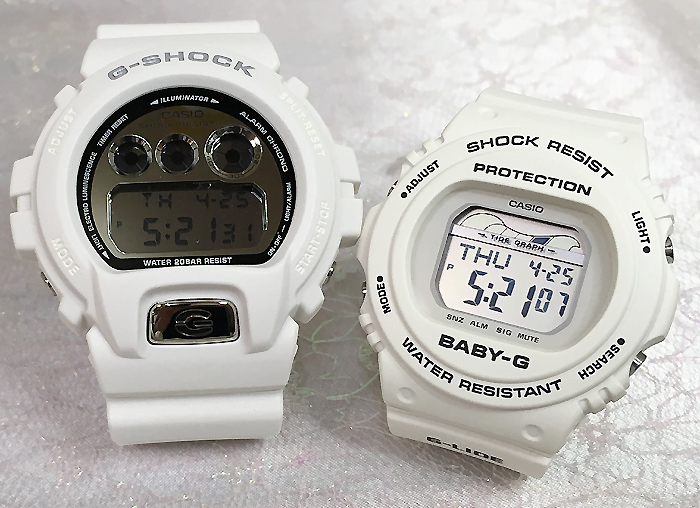 恋人たちのGショック ペアウオッチ G-SHOCK ペア腕時計 カシオ DW-6900MR-7JF BLX-570-7JFプレゼント ギフト ラッピング無料 手書きのメッセージカードお付けします あす楽対応 g-shock クリスマスプレゼント