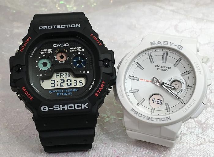 恋人たちのGショックペアウオッチ G-SHOCK ペア腕時計 カシオ DW-5900-1JFBGA-255-7AJFプレゼント ギフト ラッピング無料 g-shock メッセージカード手書きします あす楽対応 クリスマスプレゼント