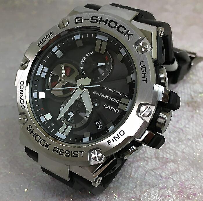 国内正規品 カシオCASIO 腕時計 G-SHOCK ジーショック G-STEEL スマートフォン リンク GST-B100-1AJF メンズ メンズ 人気 ラッピング無料 ソーラー g-shock ブラック メタルブレスあす楽対応