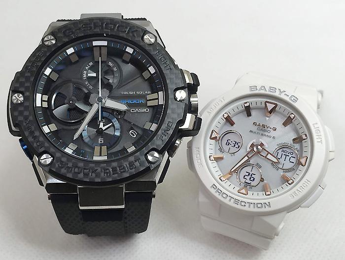 恋人たちのGショックペアウォッチ G-SHOCK BABY-G ペア腕時計 カシオ 2本セット gショック 電波ソーラー GST-B100XA-1AJF BGA-2500-7AJF 人気 ラッピング無料 あす楽対応 クリスマスプレゼント ほんのり好きでいてください