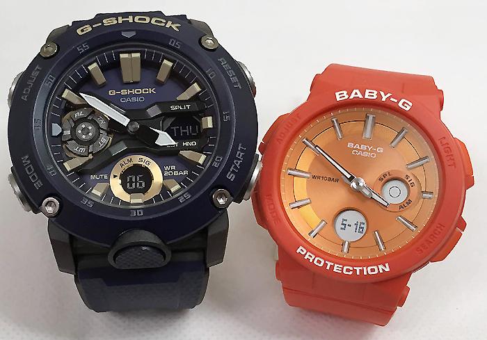 恋人たちのGショックペアウオッチ G-SHOCK BABY-G ペア腕時計 カシオ 2本セットgショック ベビーg アナデジ GA-2000-2AJF BGA-255-4AJF 人気 ラッピング無料 g-shock メッセージカード手書きします あす楽対応 クリスマスプレゼント
