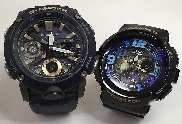 恋人たちのGショックペアウォッチ G-SHOCK BABY-G ペア腕時計 カシオ 2本セット gショック ベビーg アナデジ GA-2000-2AJF BGA-190GL-1BJF お揃い プレゼント ギフト 人気 ラッピング無料 新品 メッセージカード手書きします あす楽対応