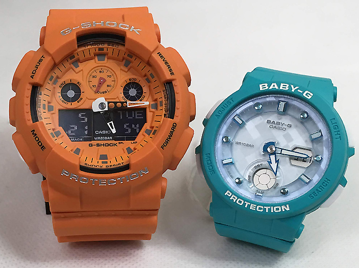 恋人たちのGショック ペアウオッチ G-SHOCK BABY-G ペア腕時計 カシオ 2本セット gショック ベビーg GA-100RS-4AJF BGA-250-2AJF プレゼントギフト 人気 ラッピング無料 新品メッセージカード手書きします あす楽対応 クリスマスプレゼント