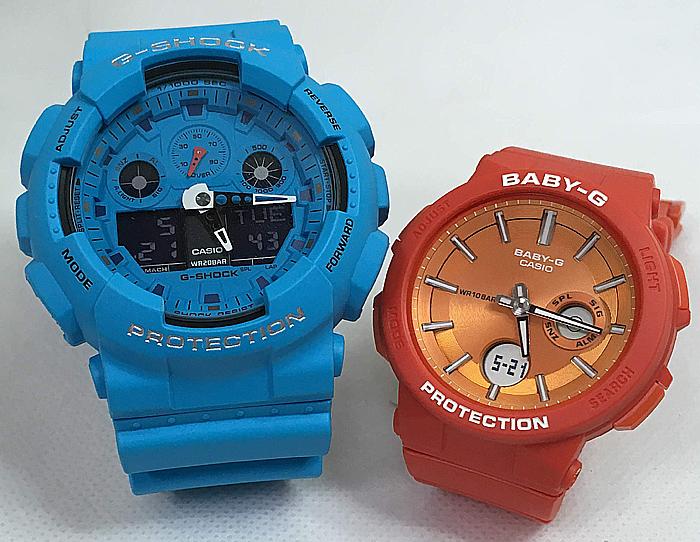 恋人たちのGショックペアウオッチ G-SHOCK BABY-G ペア腕時計 カシオ 2本セットgショック ベビーg アナデジ GA-100RS-2AJF BGA-255-4AJF 人気 ラッピング無料 g-shock メッセージカード手書きします あす楽対応 クリスマスプレゼント