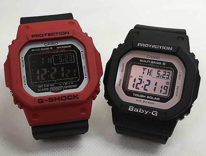 恋人達のGショックペアウォッチ 国内正規品 G-SHOCK BABY-G ペア腕時計 カシオ 2本セット 電波ソーラー gショック ベビーg デジタル GW-M5610RB-4JF BGD-5000-1BJF 人気 ラッピング無料 手書きのメッセージカードお付けします あす楽対応