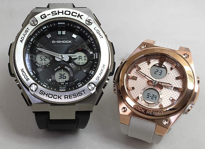 恋人たちのGショックペア G-SHOCK BABY-G ペアウォッチ ペア腕時計 カシオ 2本セット gショック 電波ソーラー GST-W110-1AJF MSG-C100G-7AJF人気 ラッピング無料 あす楽対応