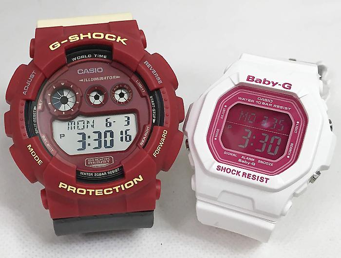 恋人たちのGショック ペアウオッチ G-SHOCK BABY-G ペア腕時計 カシオ 2本セット gショック ベビーg GD-120NC-4JF BG-5601-7JFデジタル お揃い人気 ラッピング無料 愛の証g-shock あす楽対応 クリスマスプレゼント