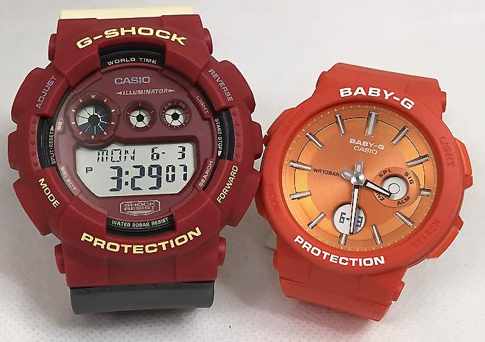 恋人たちのGショックペアウオッチ G-SHOCK BABY-G ペア腕時計 カシオ 2本セットgショック ベビーg アナデジ GD-120NC-4JF BGA-255-4AJF クリアスケルトン 人気 ラッピング無料 g-shock メッセージカード手書きします あす楽対応 クリスマスプレゼント