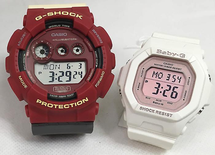 恋人たちのGショック ペアウオッチ G-SHOCK BABY-G ペア腕時計 カシオ 2本セット gショック ベビーg GD-120NC-4JF BG-5606-7BJF デジタル お揃い 人気 ラッピング無料 あす楽対応 クリスマスプレゼント