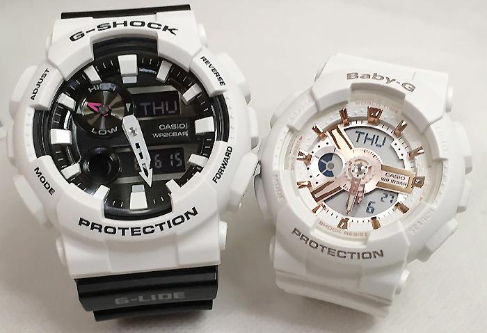 恋人たちのGショックペアウオッチ G-SHOCK ペア腕時計 カシオ GAX-100B-7AJF BA-110RG-7AJFプレゼント ギフト ラッピング無料 g-shock メッセージカード手書きします あす楽対応 クリスマスプレゼント