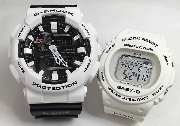 G-Shock pair watch G-SHOCK BABY-G pair watch Casio two set G-LIDE g shock  baby GAX-100B-7AJF BLX-570-7JF present gift popularity lapping free of
