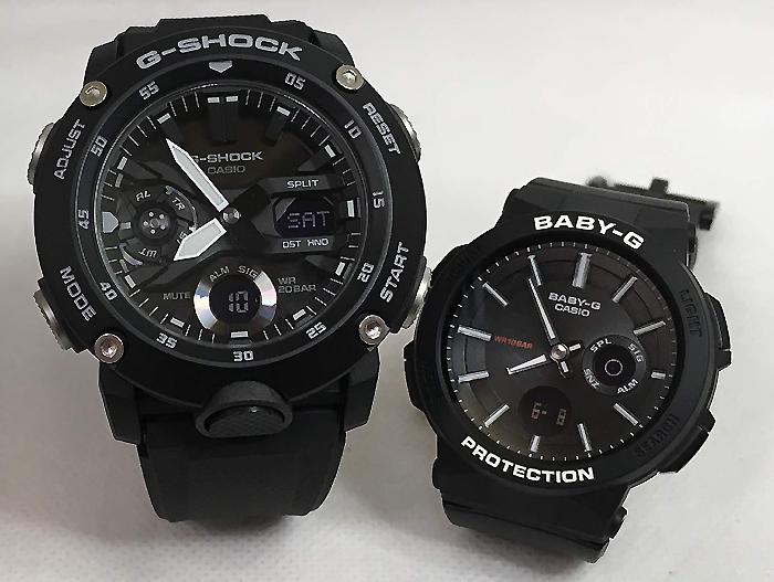 恋人たちのGショックペアウオッチ G-SHOCK BABY-G ペア腕時計 カシオ 2本セットgショック ベビーg アナデジ GA-2000S-1AJF BGA-255-1AJF スマート人気 ラッピング無料 g-shock メッセージカード手書きします あす楽対応