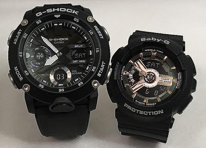 恋人たちのGショックペアウオッチ G-SHOCK BABY-G ペア腕時計 カシオ 2本セットgショック ベビーg アナデジ GA-2000S-1AJF BA-110RG-1AJF 人気 ラッピング無料 g-shock メッセージカード手書きします あす楽対応