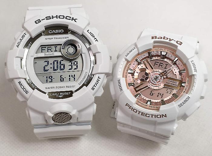 恋人たちのGショックペアウオッチ G-SHOCK BABY-G ペア腕時計 カシオ 2本セットgショック ベビーg アナデジGBD-800-7JF BA-110-7A1JF ラッピング無料 g-shock メッセージカード手書きします あす楽対応 クリスマスプレゼント クリスマスペアウオッチ