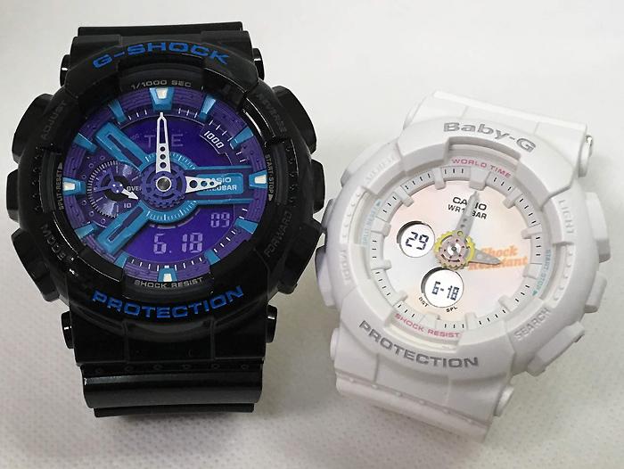 恋人たちのGショック ペアウオッチ G-SHOCK BABY-G ペア腕時計 カシオ 2本セット gショック ベビーg GA-110HC-1AJF BA-120T-7AJF ギフト 人気 ラッピング無料 手書きのメッセージカードお付けします