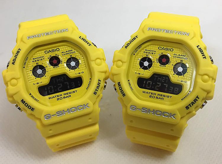 恋人たちのGショック ペアウオッチ G-SHOCK 双子コーデ ペア腕時計 カシオ 2本セット gショック ベビーg DW-5900RS-9JF DW-5900RS-9JF デジタル お揃い 人気 ラッピング無料 あす楽対応 クリスマスプレゼント