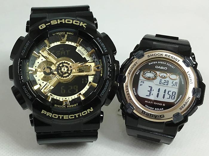 恋人たちのGショック ペアウオッチ G-SHOCK BABY-G ペア腕時計 カシオ 2本セット gショック ベビーg GA-110GB-1AJF BGR-3003-1JF プレゼント ギフト ラッピング無料 g-shock 手書きのメッセージカードお付けします あす楽対応 クリスマスプレゼント