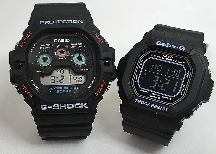 恋人たちのGショック ペアウオッチ G-SHOCK BABY-G ペア腕時計 カシオ 2本セット gショック ベビーg DW-5900-1JF BG-5600BK-1JF プレゼント ギフト ラッピング無料 メッセージカード g-shock ペアウオッチ クリスマスプレゼント