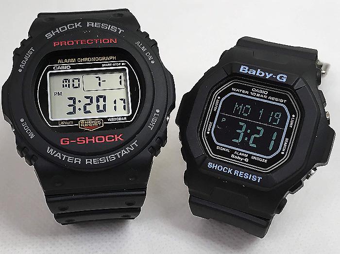 恋人たちのGショック ペアウオッチ G-SHOCK BABY-G ペア腕時計 カシオ 2本セット gショック ベビーg DW-5750E-1JF BG-5600BK-1JFデジタル お揃い 人気 ラッピング無料 あす楽対応 クリスマスプレゼント