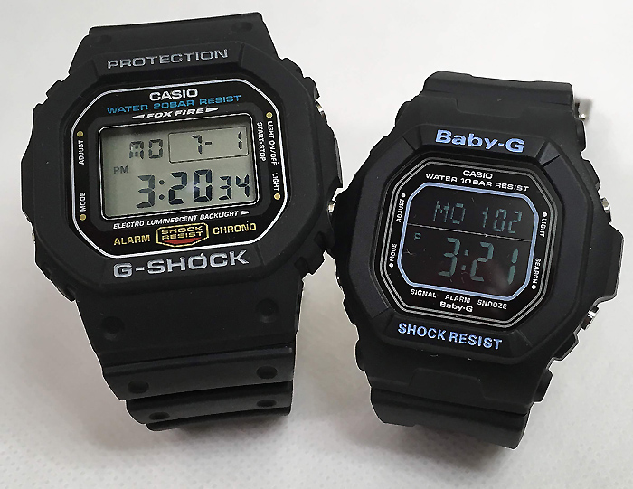 恋人たちのGショックペアウオッチ G-SHOCK BABY-G ペア腕時計 カシオ 2本セット gショック ベビーg DW-5600E-1 BG-5600BK-1JFデジタル 人気 ラッピング無料g-shock 手書きのメッセージカードお付けします あす楽対応 クリスマス プレゼント