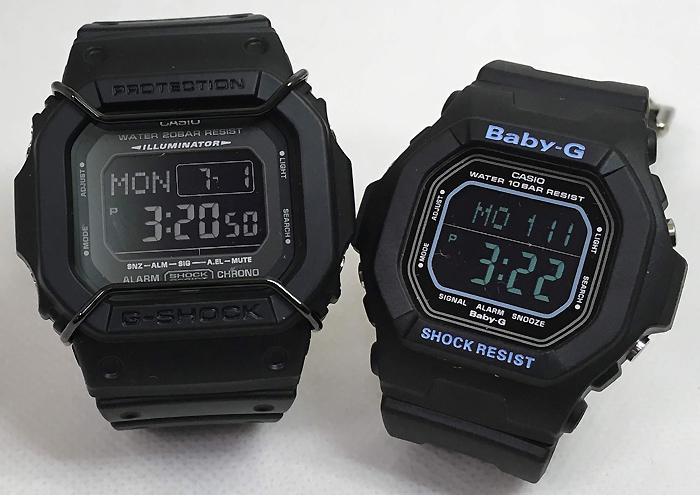 恋人たちのGショック ペアウオッチ G-SHOCK BABY-G ペア腕時計 カシオ 2本セット gショック ベビーg DW-D5600P-1JF BG-5600BK-1JFプレゼント ギフト 人気 ラッピング無料 新品メッセージカード手書きします g-shock あす楽対応 クリスマスプレゼント
