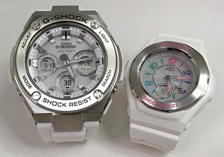 恋人たちのGショック ペアウォッチ G-SHOCK BABY-G ペア腕時計 カシオ 2本セット gショック ベビーg GST-W310-7AJF BGA-1020-7BJF 大人のG-SHOCK 電波ソーラー 人気 ラッピング無料