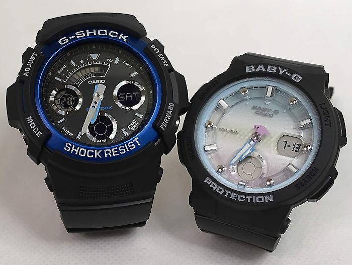 恋人たちのGショックペアウオッチ G-SHOCK BABY-G ペア腕時計 カシオ 2本セット gショック ベビーg アナデジ AW-591-2AJF BGA-250-1A2JF お揃い ギフト 人気 ラッピング無料 新品 メッセージカード手書きします クリスマスプレゼント