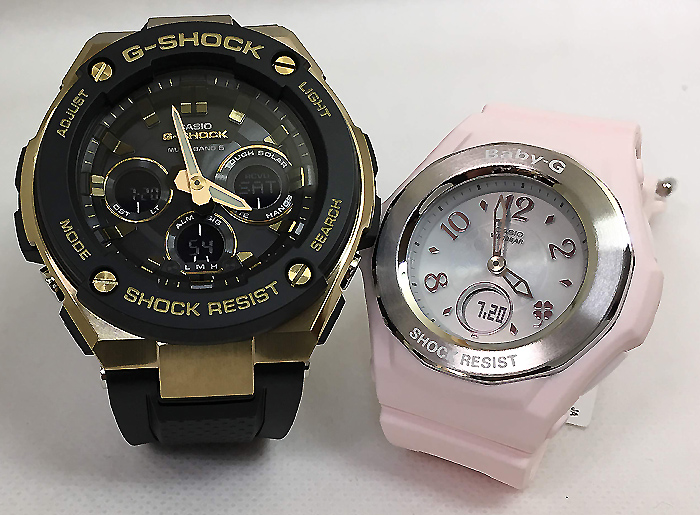 恋人たちのGショック ペアウオッチ G-SHOCK BABY-G ペア腕時計 カシオ 2本セット gショック ベビーg GST-W300G-1A9JF BGA-1050CD-4BJF 大人のG-SHOCK プレゼント ギフト ラッピング無料 手書きのメッセージカードお付けします あす楽対応 g-shock クリスマスプレゼント