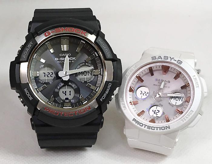 恋人達のGショック ペアウォッチ G-SHOCK BABY-G ペア腕時計 カシオ 2本セット電波ソーラー gショック ベビーg デジタル アナデジGAW-100-1AJF BGA-2500-7A2JF 人気 ラッピング無料 あす楽対応 クリスマスプレゼント