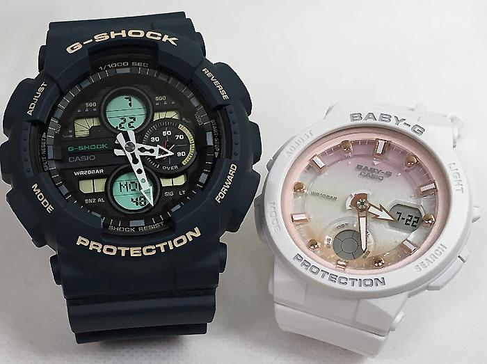 恋人たちのGショック ペアウオッチ G-SHOCK BABY-G ペア腕時計 カシオ 2本セット gショック ベビーg GA-140-2AJF BGA-250-7A2JF プレゼント ギフト ラッピング無料 メッセージカード g-shock クリスマス プレゼント愛の証