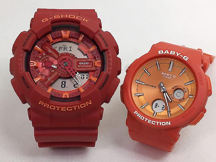 恋人たちのGショックペアウオッチ G-SHOCK ペア腕時計 カシオ GA-110AC-4AJF BGA-255-4AJFプレゼント ギフト ラッピング無料 g-shock メッセージカード手書きします あす楽対応 クリスマスプレゼント