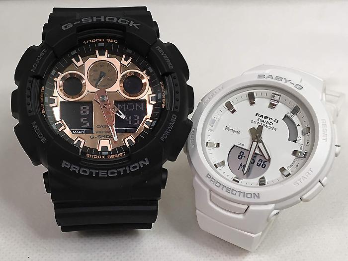 恋人たちのGショックペアウオッチ G-SHOCK BABY-G ペア腕時計 カシオ 2本セットgショック ベビーg アナデジ GA-100MMC-1AJF BSA-B100-7AJF ラッピング無料 g-shock メッセージカード手書きします あす楽対応 クリスマスプレゼント