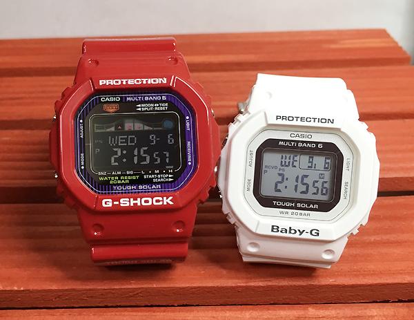 恋人たちのGショック ペアウオッチ G-SHOCK BABY-G ペア腕時計 カシオ レッド ホワイト 白 赤 2本セット GWX-5600C-4JF BGD-5000-7JF プレゼント ギフト ラッピング無料 メッセージカードあす楽対応 クリスマスプレゼント
