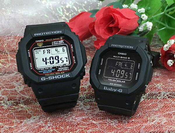恋人たちのGショック ペアウオッチ G-SHOCK BABY-G ペア腕時計 カシオ 2本セット gショック ベビーg GW-M5610-1JF BGD-5000MD-1JF デジタル スクエア お揃い 人気 ラッピング無料 愛の証 g-shock ペアウオッチ