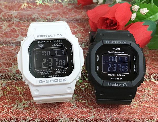 恋人たちのGショック ペアウオッチ G-SHOCK BABY-G ペア腕時計 カシオ 2本セット gショック ベビーg GW-M5610MD-7JF BGD-5000MD-1JF デジタル 電波 ソーラー お揃い 人気 ラッピング無料 愛の証 g-shock クリスマスプレゼント