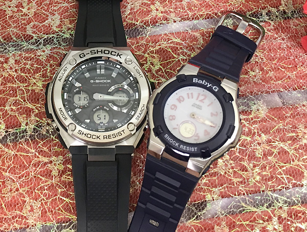 恋人たちのGショック ペアウオッチ G-SHOCK BABY-G ペア腕時計 カシオ 2本セット gショック ベビーg GST-W110-1AJF BGA-1100-2BJF 大人のG-SHOCK プレゼント ギフト ラッピング無料 メッセージカード g-shock ペアウオッチ クリスマス