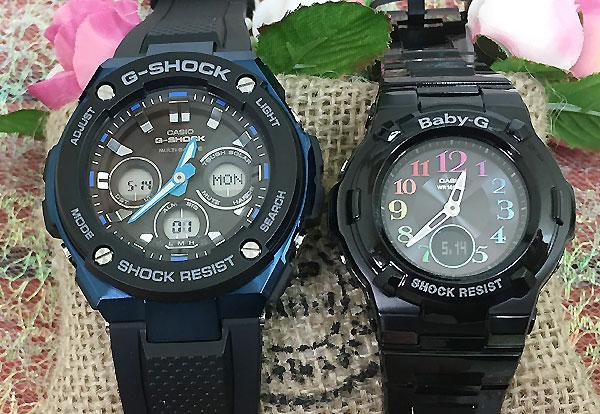 Gショック ペア G-SHOCK BABY-G ペアウォッチ ペア腕時計 カシオ 2本セット gショック ベビーg アナデジ GST-W300G-1A2JF BGA-1110GR-1BJF 人気 ラッピング無料 クリスマス
