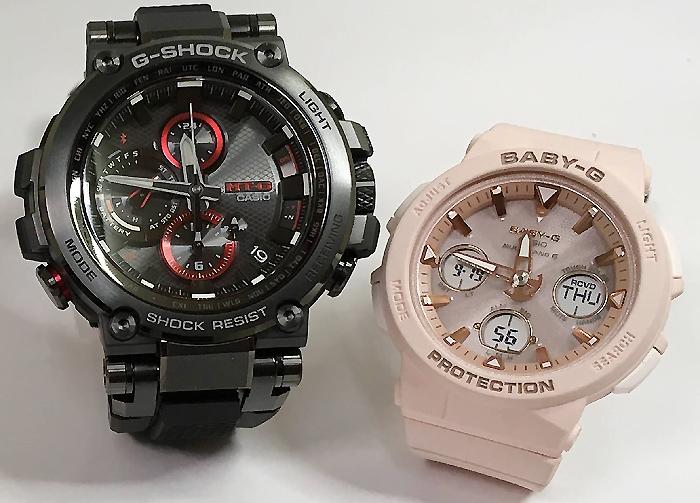 恋人たちのGショックペアウォッチ G-SHOCK BABY-G ペア腕時計 カシオ 2本セット gショック 電波ソーラー MTG-B1000B-1AJF BGA-2500-4AJF 人気 ラッピング無料 あす楽対応 クリスマスプレゼント ほんのり好きでいてください