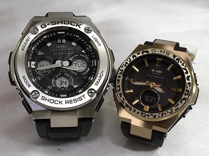 恋人たちのGショックペアウォッチ G-SHOCK BABY-G ペア腕時計 Gスチール G-MS カシオ 2本セット gショック 電波ソーラー GST-W310-1AJF MSG-W200WLP-5AJR 人気 ラッピング無料 あす楽対応 クリスマスプレゼント 愛の証 ほんのり好きでいてください